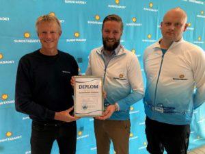 Tomas Viker från Vansbrosimningen, Stephan Hammar och Håkan Dahlgren från Sundstabadet.